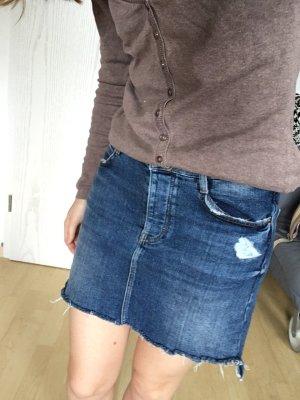 Zara Jupe en jeans bleu foncé-bleu