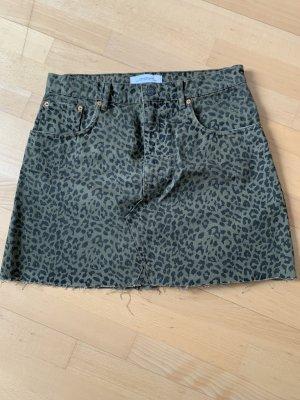 Zara Woman Gonna di jeans nero-cachi Cotone
