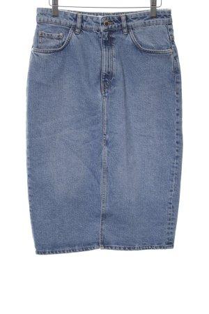 Zara Denim Skirt blue casual look