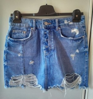 Zara Denim Skirt neon blue
