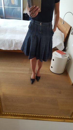 Zara Jupe bleu-bleu acier