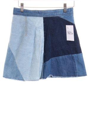 Zara Jeansrock mehrfarbig Street-Fashion-Look