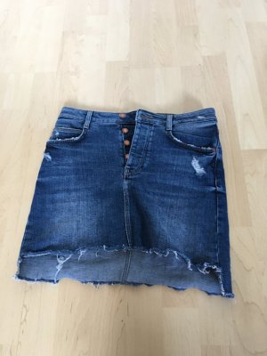 Zara Gonna di jeans blu scuro-blu