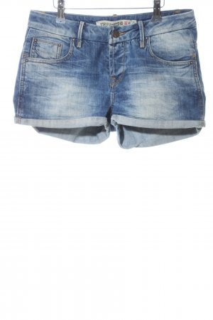 Zara Denim Shorts blue street-fashion look