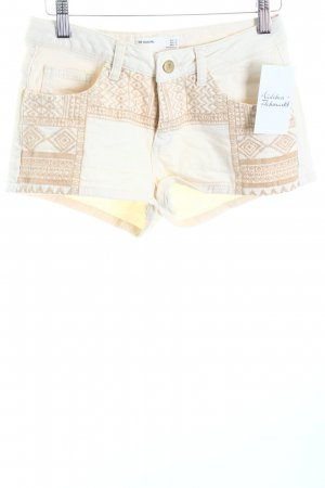 Zara Jeansshorts creme Casual-Look