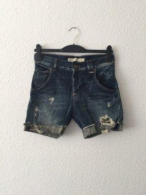 Zara Jeansshorts destoryed dunkelblau 34