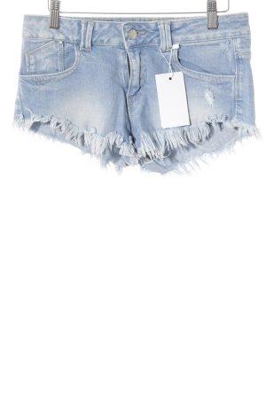 Zara Short en jean bleu clair style décontracté