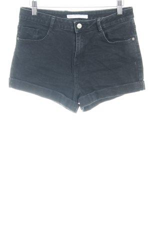Zara Jeansshorts schwarz Casual-Look