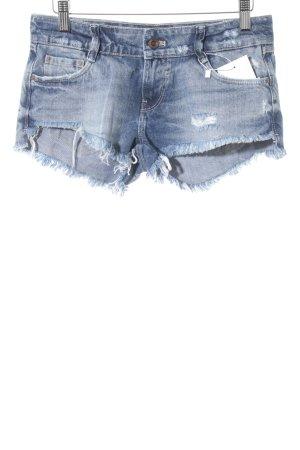 Zara Short en jean bleu acier style décontracté