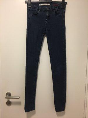 Zara Trafaluc Jeans cigarette bleu foncé