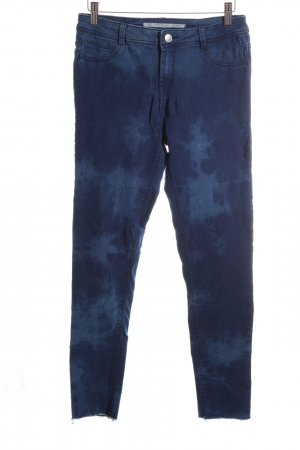 Zara Jeggings blau abstraktes Muster Casual-Look