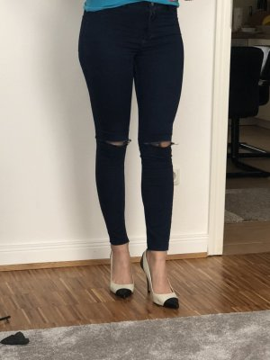 Zara, Jeggings, Gr. 34, blau