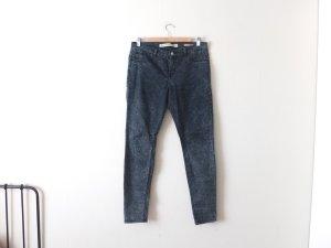 Zara Jeggings Gr. 40 dip dye batik blau dunkelblau röhre skinny leggings