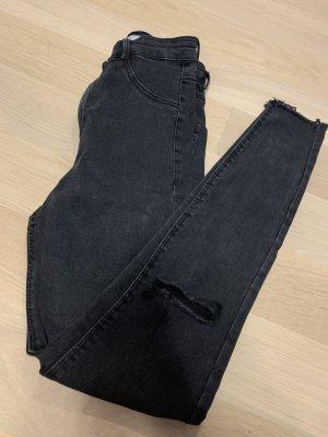 Zara Trafaluc Hoge taille jeans zwart