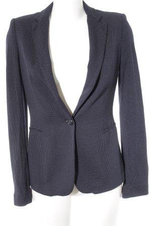 Zara Blazer en jersey bleu foncé-blanc motif de tache style d'affaires