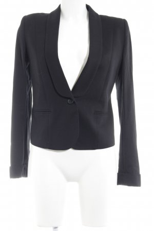 Zara Jerseyblazer schwarz Business-Look