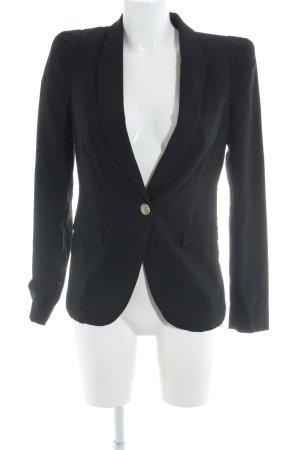 Zara Jerseyblazer schwarz Business-Look