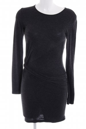 Zara Jerseykleid dunkelgrau meliert Casual-Look