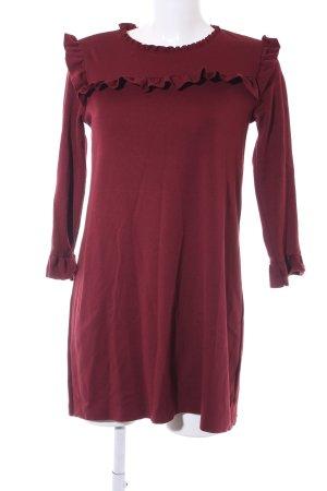 Zara Jerseykleid karminrot Casual-Look