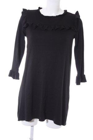 Zara Jerseykleid schwarz Casual-Look