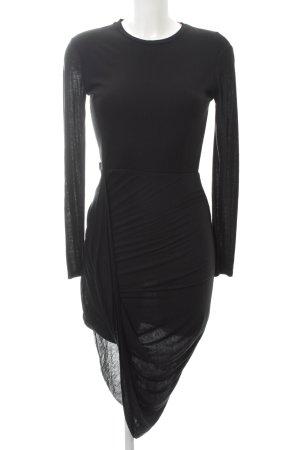 Zara Vestido de tela de jersey negro look casual