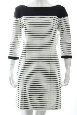 Zara Jerseykleid schwarz-weiß Ringelmuster Marine-Look