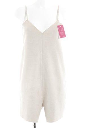 Zara Jumpsuit beige Street-Fashion-Look