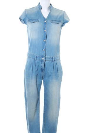 Zara Jumpsuit blau Casual-Look