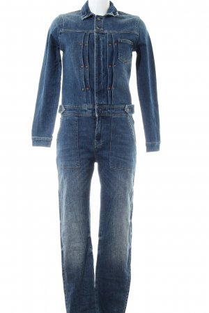 Zara Jumpsuit blau Casual-Look