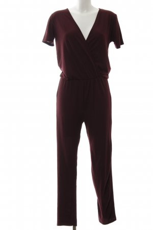 Zara Jumpsuit bordeauxrot Casual-Look