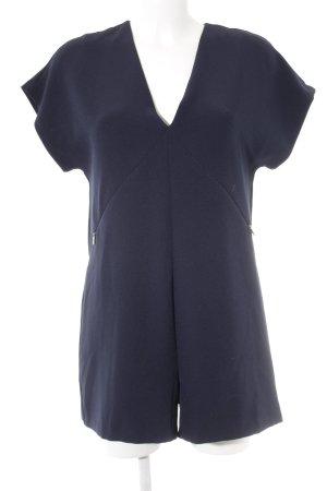 Zara Jumpsuit donkerblauw casual uitstraling