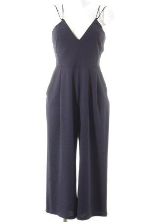 Zara Jumpsuit dunkelblau grafisches Muster Casual-Look