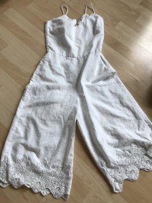 Zara Combinaison blanc coton