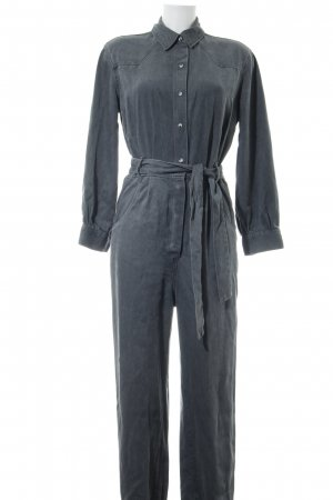 Zara Jumpsuit hellgrau Casual-Look