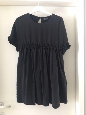 Zara Vestido babydoll negro-gris antracita