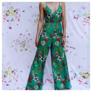 Zara Jumpsuit Palazzo Einteiler Wide Leg Body Silky Culottes