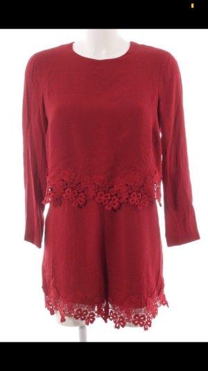 Zara Jumpsuit Spitze Rot