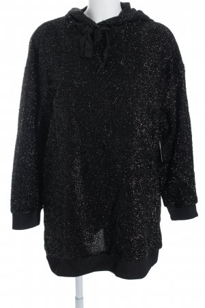 Zara Capuchon sweater zwart wetlook