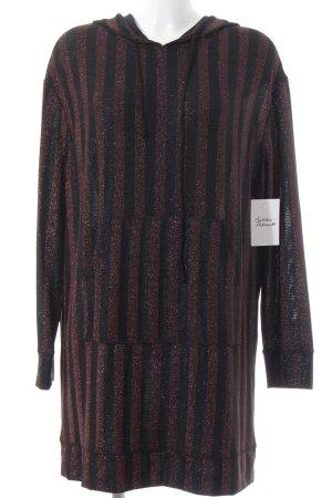 Zara Jersey con capucha negro-naranja estampado a rayas reluciente