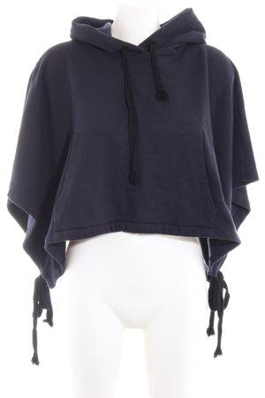 Zara Kapuzensweatshirt dunkelblau Casual-Look