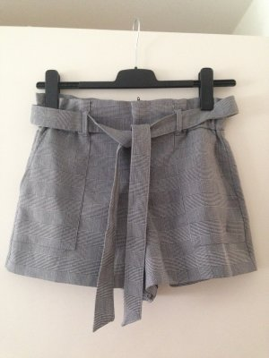 Zara High-Waist-Shorts black-silver-colored