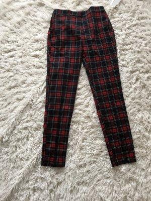 Zara Pantalon en jersey rouge