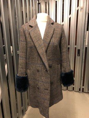 Zara Abrigo de lana negro-azul oscuro