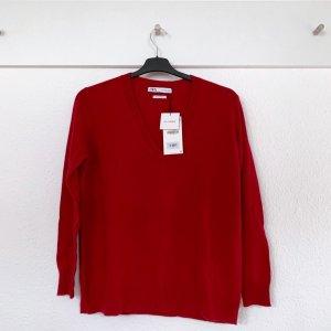 Zara Kaschmir Pullover rot S