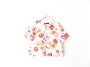 Zara Kastenshirt Gr. L 40 blumen floral print oversize