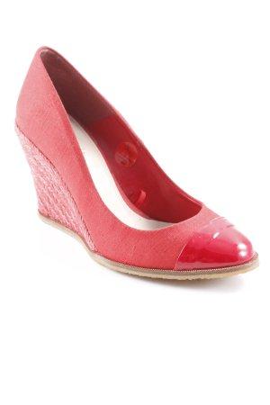 Zara Décolleté con zeppa rosso elegante