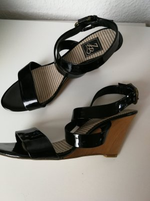 Zara Keilabsatz Sandaletten mit Lackriemen - Neu