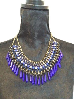 Zara Kette mit blauem Perlenmix