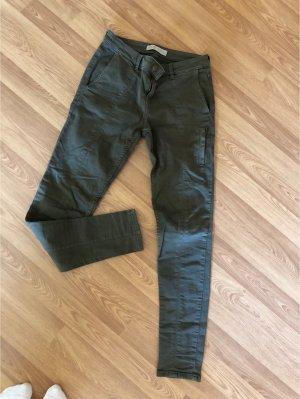 Zara Jeans cigarette vert foncé-kaki