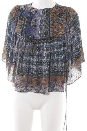 Zara Kimono-Bluse grafisches Muster Gypsy-Look